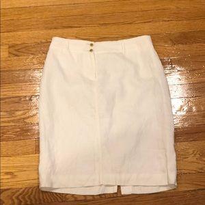 White linen skirt 100% linen